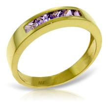 14K Solid Gold Bliss Is Found Here Amethyst Ring #20337v0