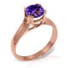 14K Rose Gold Better To Be Ready Amethyst Ring #21336v0