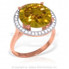 14K Rose Gold Ingrid Citrine Diamond Ring #10287v0