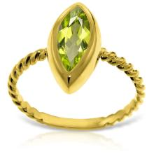 14K. Solid Gold RINGS WITH NATURAL MARQUIS PERIDOT #17106v0