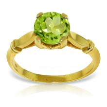 14K Solid Gold A Passage Back Peridot Ring #12233v0