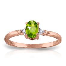 14K Rose Gold Young Love Peridot Diamond Ring #11474v0