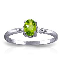 14K White Gold Excellence Within Peridot Diamond Ring #10633v0