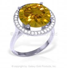 14K White Gold Conjure Up Citrine Diamond Ring #10288v0