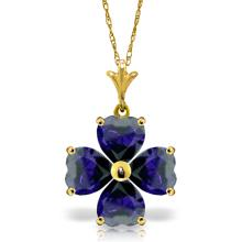 14K Solid Gold Beauty At Best Sapphire Necklace #16499v0