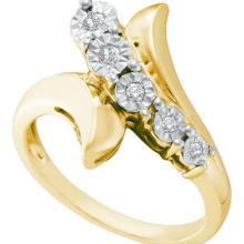 925 Sterling Silver Yellow 0.10CTW DIAMOND FASHION RING #58028v2