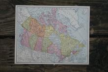 GENUINE AUTHENTIC 1930 MAP OF CANADA #70709v2
