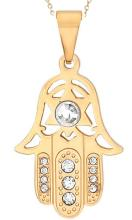 18 Karat Gold Stainless Steel Peandant with Chain #90645v2