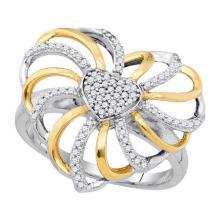 925 Sterling Silver White 0.25CTW DIAMOND FASHION RING #59763v2