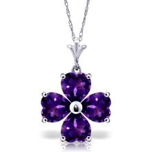 14K White Gold As I Perceive Amethyst Necklace #19306v0