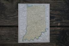 GENUINE AUTHENTIC 1930 MAP OF INDIANA #70707v2