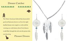 Dream Catcher necklace and earring set white gold #90040v2