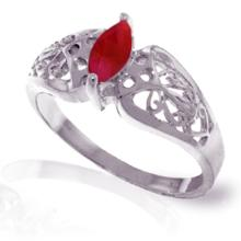 14K White Gold Inseparable Ruby Ring #18151v0