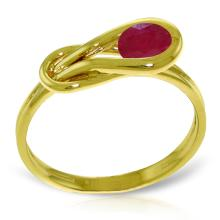 14K Solid Gold Stumbling Upon Ruby Ring #20437v0