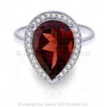 14K White Gold Intuitions Garnet Diamond Ring #15145v0