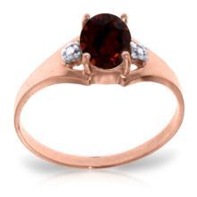 14K Rose Gold Brilliance Garnet Diamond Ring #16469v0