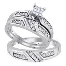 925 Sterling Silver White 0.33CTW DIAMOND FASHION TRIO SET #61109v2