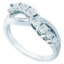 925 Sterling Silver White 0.12CTW DIAMOND FASHION RING #58027v2