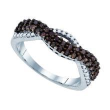 925 Sterling Silver White 0.51CT DIAMOND FASHION RING #61196v2