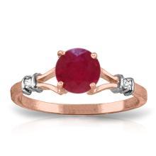 14K Rose Gold Cathy Ruby Diamond Ring #15891v0