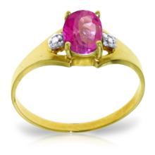 14K Solid Gold Dreams Don't Recede Pink Topaz Diamond Ring #12143v0