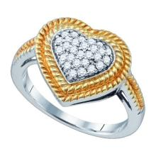 925 Sterling Silver White 0.28CTW DIAMOND MICRO PAVE RING #58252v2