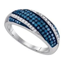 925 Sterling Silver White 0.45CT DIAMOND FASHION RING #60218v2