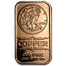 1 oz Copper Bar - Walking Liberty #27368v2