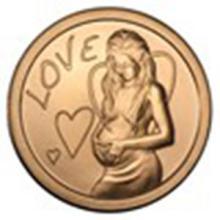 1 oz Copper Round - Love #33712v2