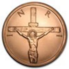 5 oz Copper Round - Crucifixion #27362v2