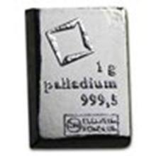 1 gram Palladium Bar - Secondary Market #27294v2