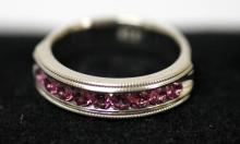 .925 STERLING SILVER 0.70 CTW PINK TOURMALINE RING #33623v1