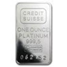 1 oz Platinum Bar - Secondary Market (.999+ Fine) #27305v2