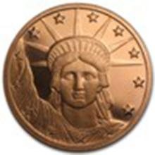 1 oz Copper Round - Liberty Head #33690v2