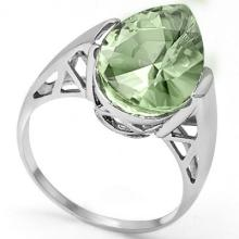 GENUINE 4.57 CTW GREEN AMETHYST PLATINUM PLATED .925 ST #42838v2