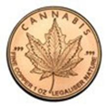 1 oz Copper Round - Cannabis #27341v2