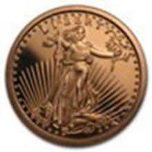 1 oz Copper Round - Saint-Gaudens #27313v2