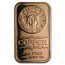 1 oz Copper Bar - Liberty Head #27367v2