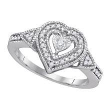 925 Sterling Silver White 0.13CT DIAMOND FASHION RING #60217v2
