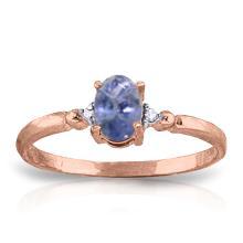 14K Rose Gold Ring with Diamonds & Tanzanite #18817v0