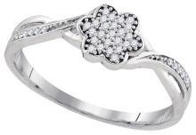 10KT White Gold 0.10CTW DIAMOND FASHION RING #62340v2