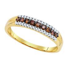 10K Yellow-gold 0.20CTW DIAMOND FASHION RING #60249v2
