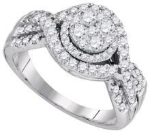 14KT White Gold 0.99CTW DIAMOND FASHION BRIDAL RING #64617v2