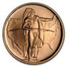 1 oz Copper Round - Oregon Trail #27332v2