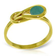 14K Solid Gold Ring with Emerald #12136v0