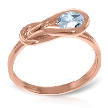14K Rose Gold Don't Stop Breathing Aquamarine Ring #18563v0