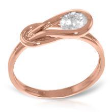 14K Rose Gold Ring with 0.50 Ct. Diamond #21494v0