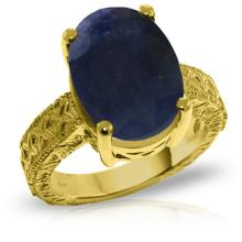 14K. Solid Gold RING WITH OVAL SAPPHIRE #18323v0
