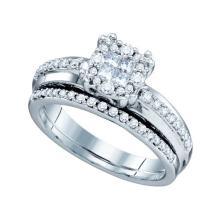 14KT White Gold 1.01CTW DIAMOND BRIDAL RING #58600v2