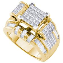 14KT Yellow Gold 2.00CTW DIAMOND INVISIBLE RING #57463v2